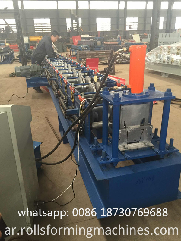 steel gutter production line
