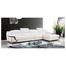 White Color Sofa, Leather Sofa, Modern Living Room Furniture (A-08)