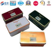 Boîte en carton métallique carré avec serrure et clé