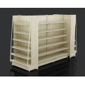 Supermarket Steel And Wooden Display Shelf