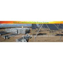 Cais helicoidais para sistema de energia solar
