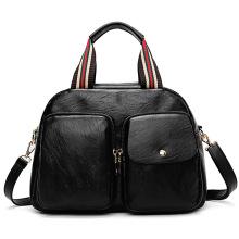 High quality women genuine real leather lady handbag