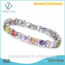 Novo design alto polido pedra natural platina pulseiras para as mulheres