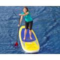10.0 'Placa de surf inflável Placa de pá amarelo e azul da cor