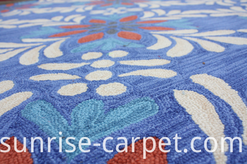 Dyeable Acrylic Hand Hooked Carpet Rug