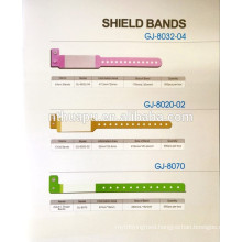 hospital disposable identification tape shield bands patinet name card