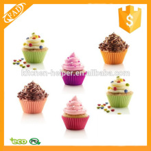 Eco-Friendly Factory Price Silicone Muffin and Cupcake Baking Liners