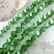twist bead glass beads,wholesale twist glass beads in bulk