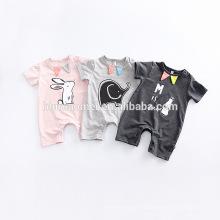 2017 mamelucos de la colmena del bebé mameluco al por mayor del bebé de la ropa del bebé recién nacido de la impresión animal floral para los niños