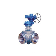 Gear 3 cara Ball Valve