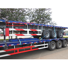 Xe tải Semi Trailer giường phẳng cho Container Loading