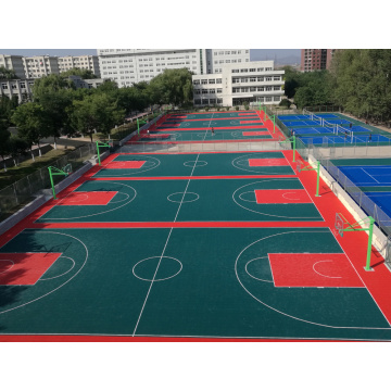 Ubin lapangan basket interlocking multi-warna yang berwarna-warni