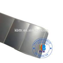 Rótulo de prata matte PET autoadesivo sintético