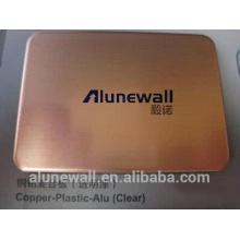 Panneau composite en cuivre de vente chaude de 2017 CCP avec la largeur maximum de 2.03 pour le revêtement de mur d'exteiror