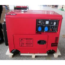 Groupe électrogène diesel silencieux portatif de cylindre simple refroidi par air de 7kw / générateur