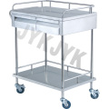 Stainless Steel Dressing & Medicine Change Cart with Two Drawers