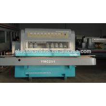 YMC251-máquina de vidro da linha reta para borda chanfrada, rebarbação e polimento