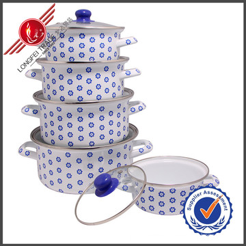 Hot-Selling Classical Kitchenware Eco-Friendly Enamel Cookware Set