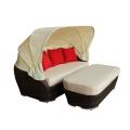 Rotin extérieur nouveau modèle canapé-lit tabouret