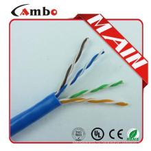 UL, указанный CAT6 Bulk Cable 23AWG Чистый медный вытягивающий блок UTP CAT6 Cable CMR Riser Rated