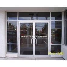 Porta de alumínio de vidro comercial