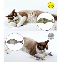 Doglemi atacado mais barato pet cat sex toys para o gato, colorido engraçado gato peixe brinquedo