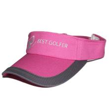 2017 design personalizado de alta qualidade viseiras de golfe simples