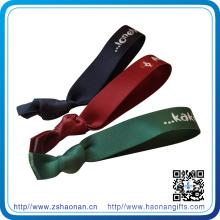 Bracelets élastiques faits sur commande de tissu de vente chaude