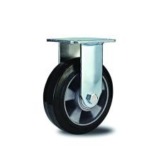 Caoutchouc robuste sur roulettes rigides en aluminium