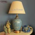 Vente chaude hôtel lampes de table en métal avec de l'ombre classique pour la vente en gros