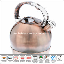 3L Brush Copper Stainless Steel Whistle Kettle Kitchenware