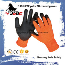 13G PU Coated Cut Resistant Safety Work Gloves Level Grade 3 and 5