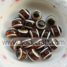 Wholesale Coffee 500 Pcs 10mm Random Resin Acrylic Loose Spacer Round Beads For Jewelry Making Craft DIY