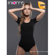MIORRE MODAL SHORT SLEEVE WOMEN BODYSUIT WITH SNAP