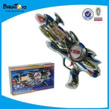 Arma de brinquedo de plástico, arma de faísca, arma de brinquedo B / O com flash