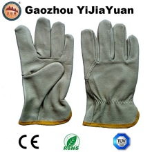 Pig Grain Leather Safety Machanic Driving Gloves
