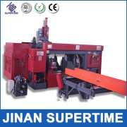 CNC controlled machinery for steel beam