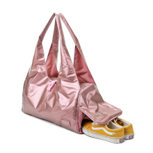 2021 fashion customized logo large capacity pink duffle bags gym women waterproof ladies travel bag
