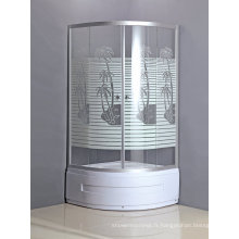 Cabine de douche bon marché d'articles sanitaires avec le plateau avec la jupe