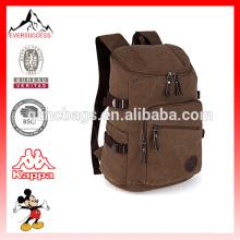 Moda de alta qualidade à prova d 'água lona ao ar livre saco viajando mochila com laptop compartimento