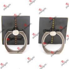Titular de anillo de dedo cuadrado negro para smartphone (ssph213)