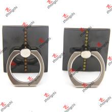 Support d'anneau de doigt carré noir pour téléphone intelligent (SBPH213)