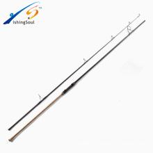 CPR008 producto caliente 2 secciones carp rod 3.9m caña de pescar carpa de carbono