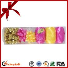 Venta al por mayor Conjunto de envoltura de regalos de cinta para la decoración de vacaciones