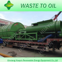 XinXiang HuaYin 5/8 / 10Ton Waste / Used Tire Recycling Machine para refinar el aceite combustible