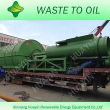 Xinxiang HuaYin 5/8/10 toneladas de resíduos / máquina de reciclagem de pneus usados para refinar o óleo combustível