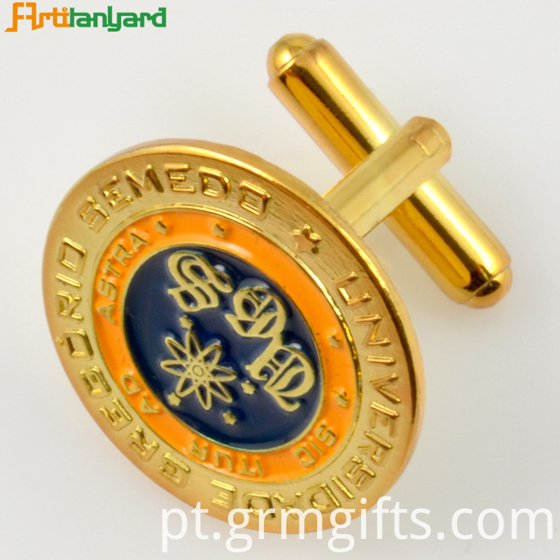 Gold Customized Metal Cufflink