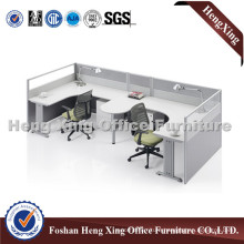White Cheery Office Furniture 2 Seats Workstation Office Cubicle (HX-5057)