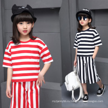 2016 Мода и прохладный Оптовая девочек повседневные костюмы