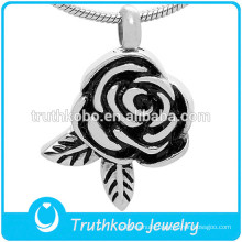 Flower design pendant cremation ashes necklace memorial jewelry